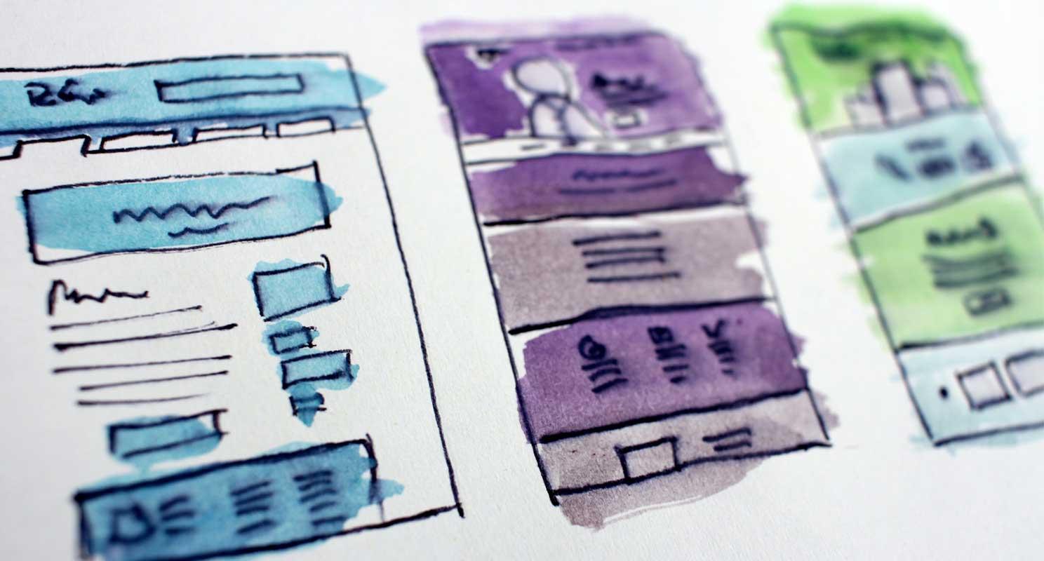 skizze einer webagentur